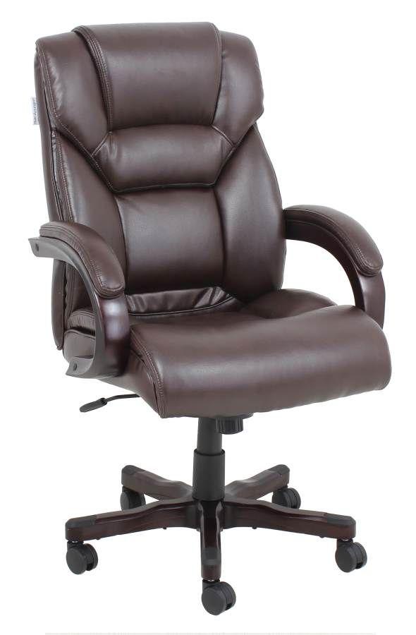 Barcalounger Neptune Ii Mocha Executive Wood Chair Brc 17 8007 Mc