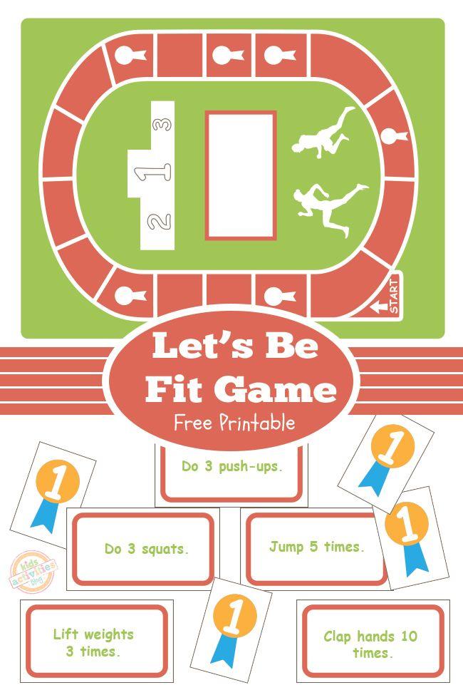 LET\'S BE FIT BOARD GAME {FREE KIDS PRINTABLE   Free printable ...