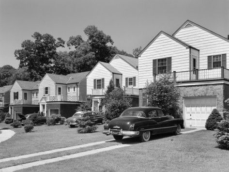 1950s Houses 1950s suburban street of typical homes queens new york | 1950s and