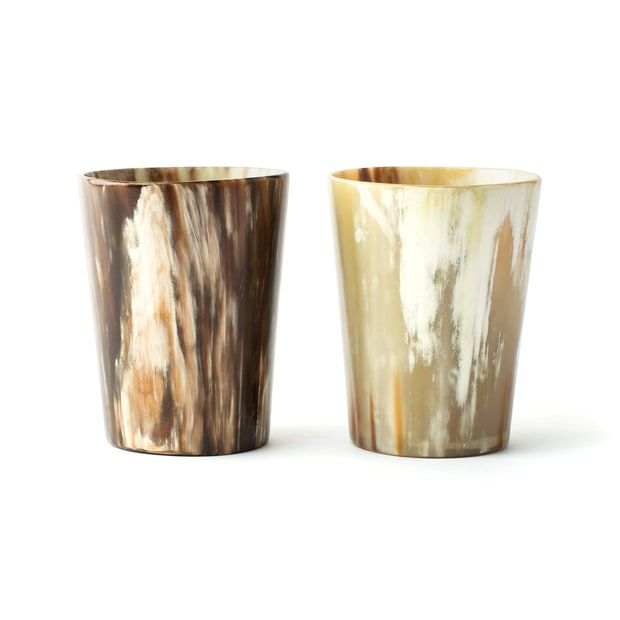 Rose & Fitzgerald Cow Horn Tumblers, Set of Two