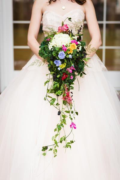 50 Fairy Tale Floral Arrangements Cascading Wedding Bouquets