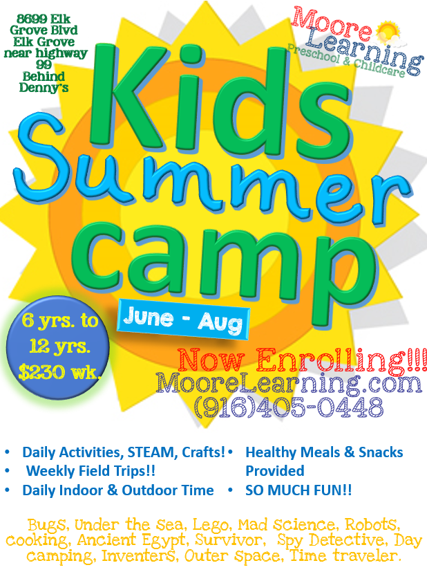 Moore Learning Summer camps for kids, Summer kids