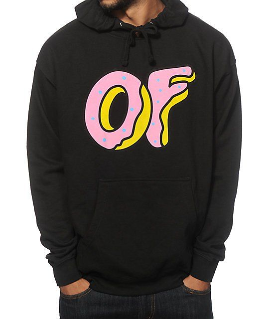 34b1a892873f A tagless fleece lined construction with an OF donut logo graphic at the  chest and OFWGKTA on the hood.