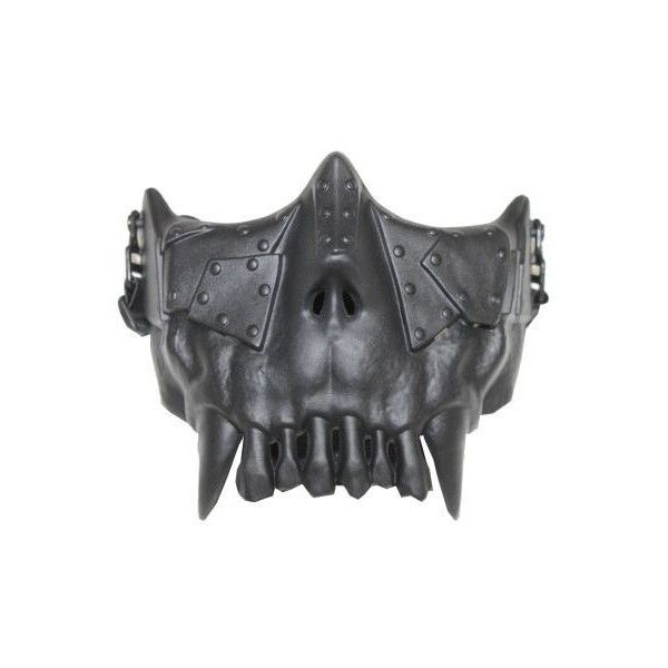 Avengers Desert Corp Half Face Mask Blk Liked On Polyvore