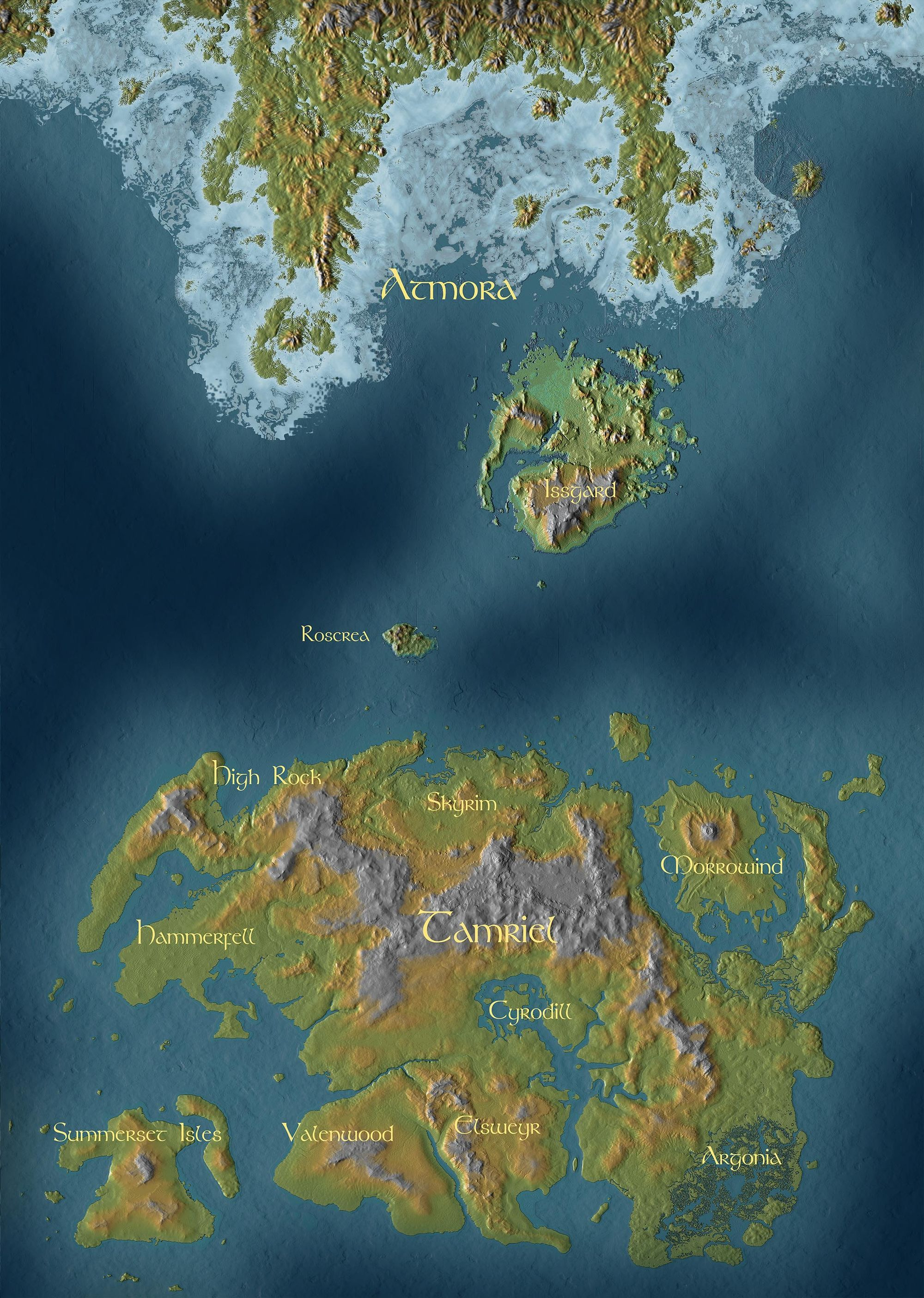Elder Scrolls 2 Map Size : elder, scrolls, Ideas, Fantasy, World, Cartography