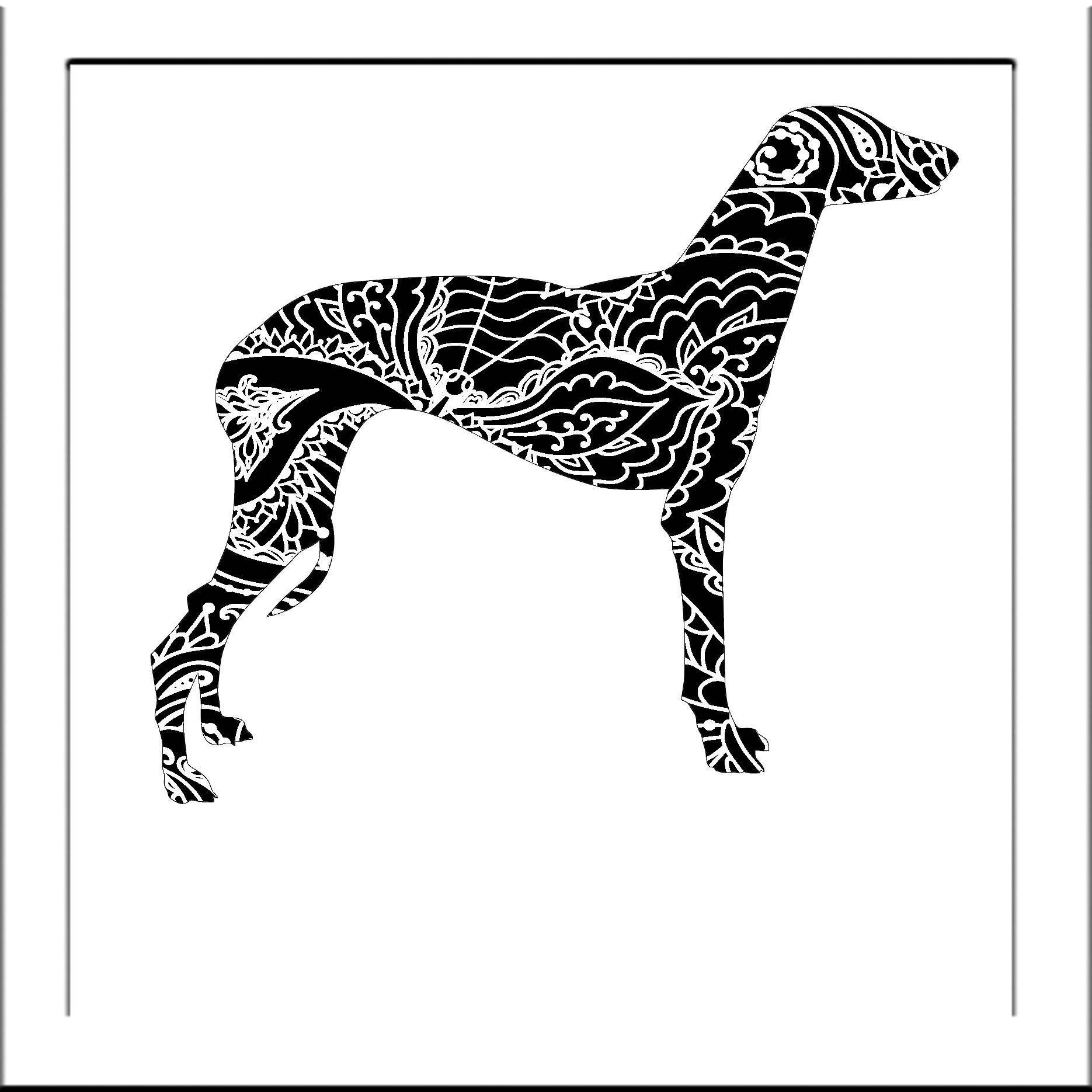 Dog Greyhound Papercut Template Dog - Svg Paper Cut Templates ...