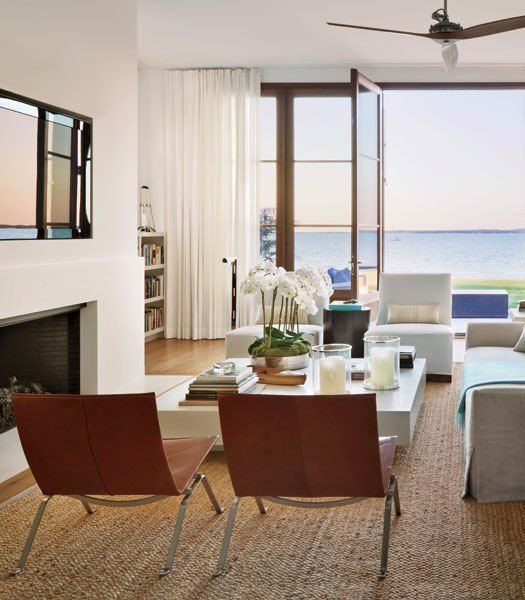 Green Living Room Ideas In East Hampton New York: Home Of Architect Frank Greenwald