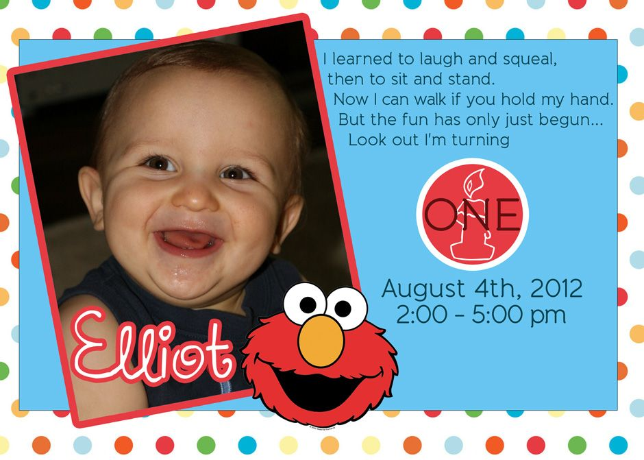elmo birthday invitations printable | new invitations | pinterest, Birthday invitations