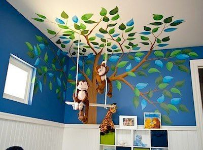 Kinderzimmer Kidsroom Baum Affen Dschungel ähnliche tolle