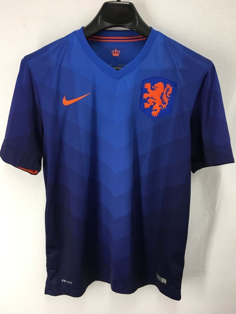 15c2a2b6a7b MENS KNVB HOLLAND NETHERLANDS NIKE DRI-FIT BLUE SOCCER JERSEY T-SHIRT TEE  MEDIUM  NIKE  Netherlands