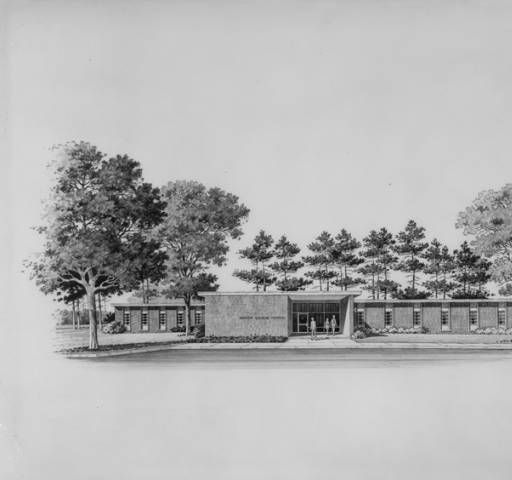 Drawing of the Sumter Citizens Hospital on Derby Drive in York, Alabama…