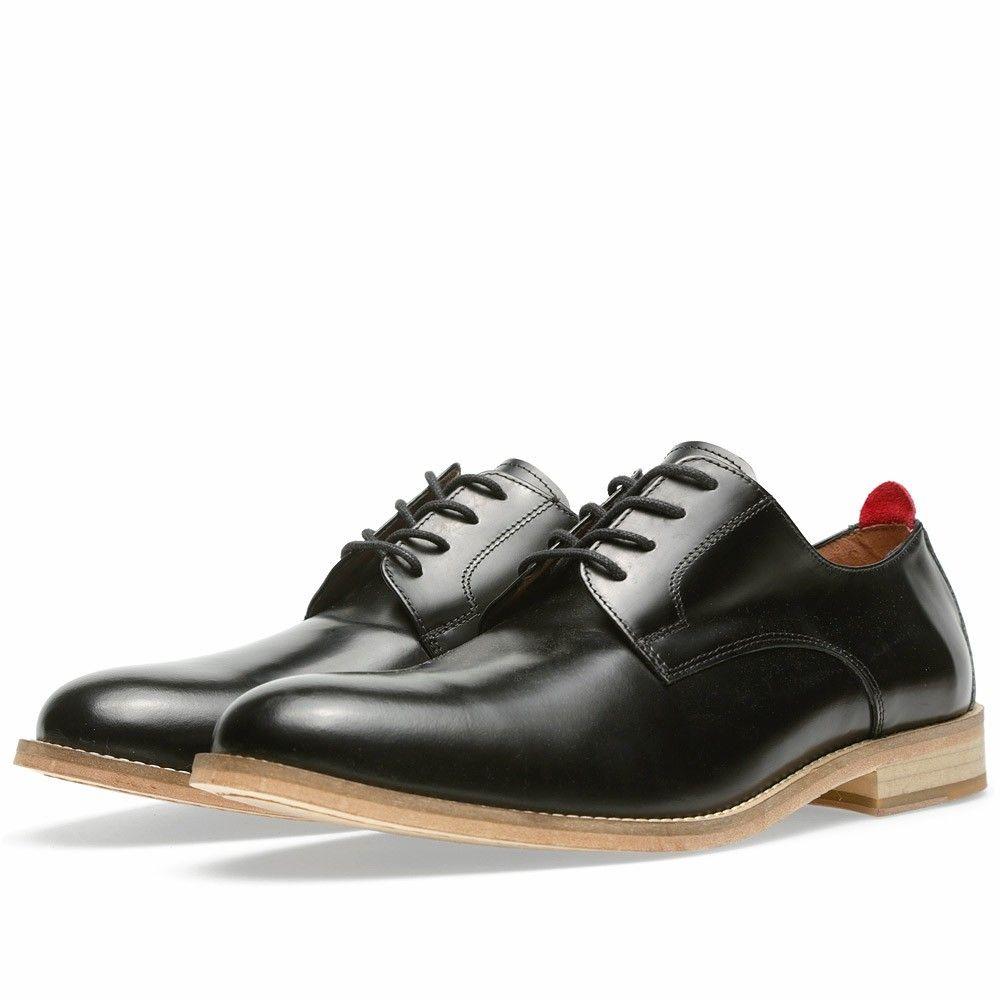 ccce728745 Oliver Spencer Officers Shoe (Black High Shine)  259