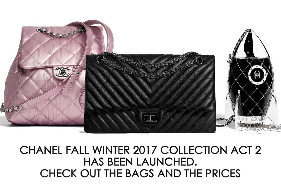 ce43914bb6a7 Just launched, Chanel FW2017 Collection Act 2. A lot of new seasonal bags,  but also the fresh iconics like the Reissue 2.55 So Black Flap Bag.