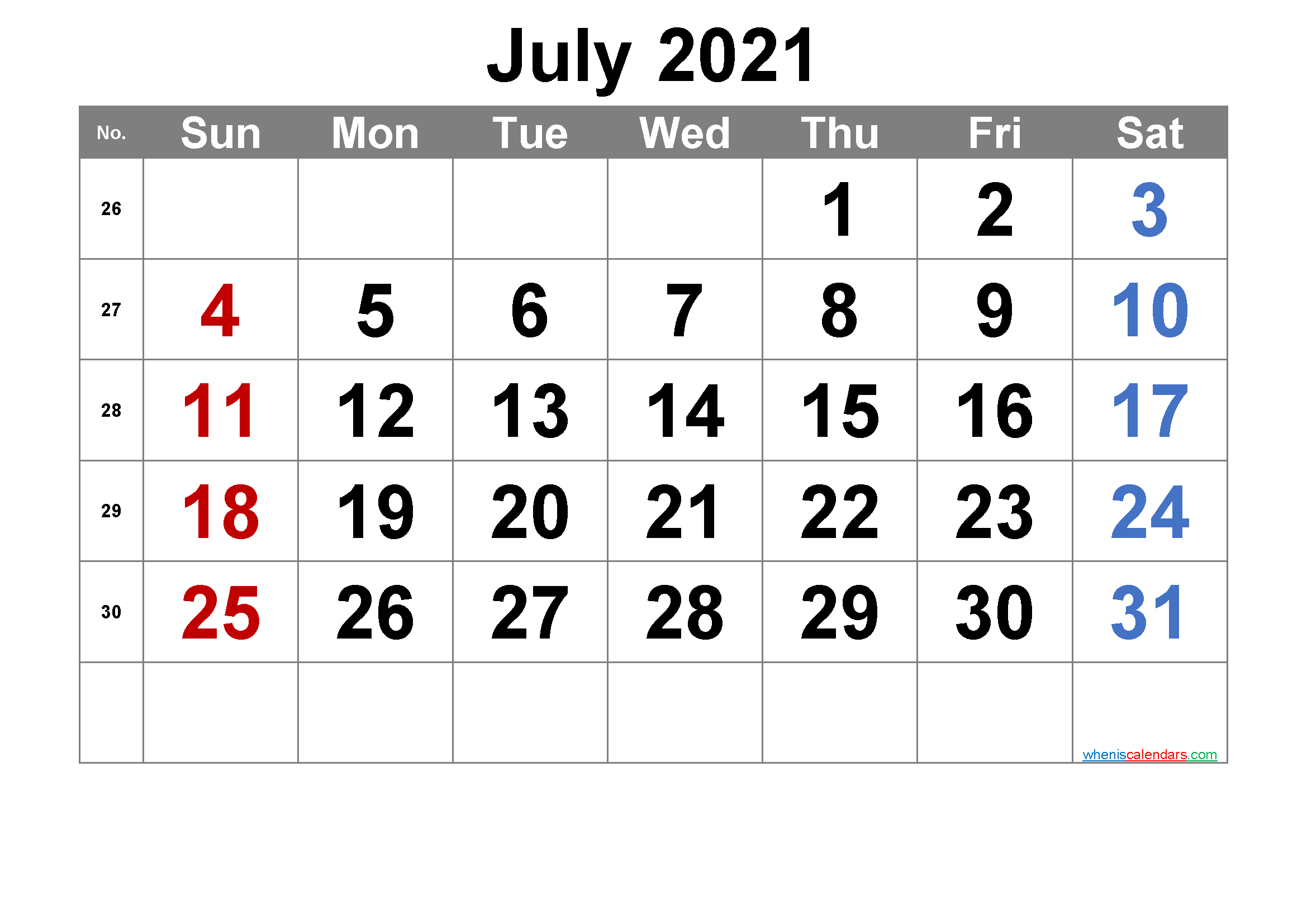 Free Printable July 2021 Calendar Premium In 2020 Calendar Printables March Free Printable Calendar Free Printable Calendar