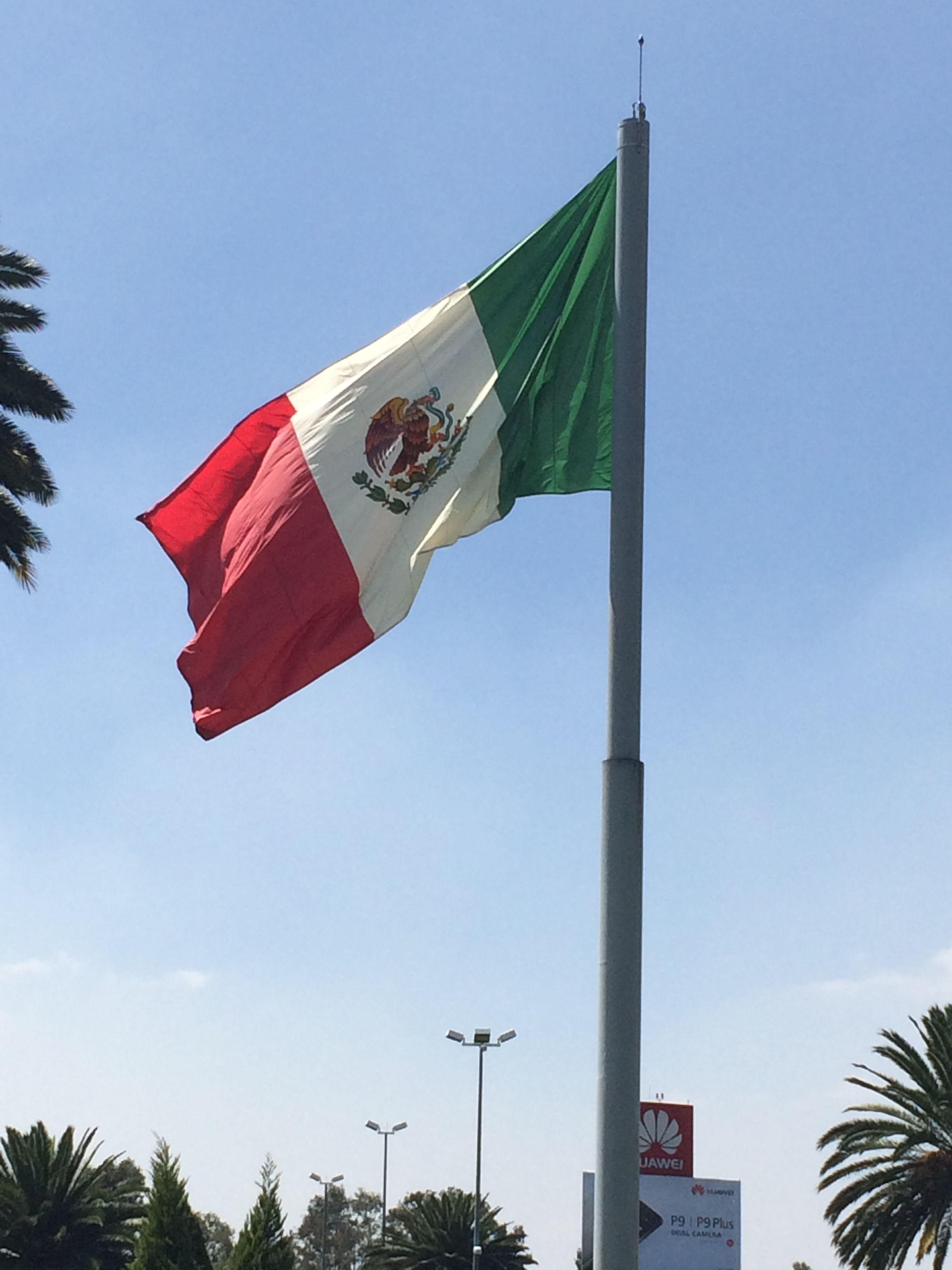 The Flag Of Los Estados Unidos Mexicanos Outside Terminal 2 At Benito Juarez International Airport In Mexico City Mexicocity Mexico Mexico City Mexico City