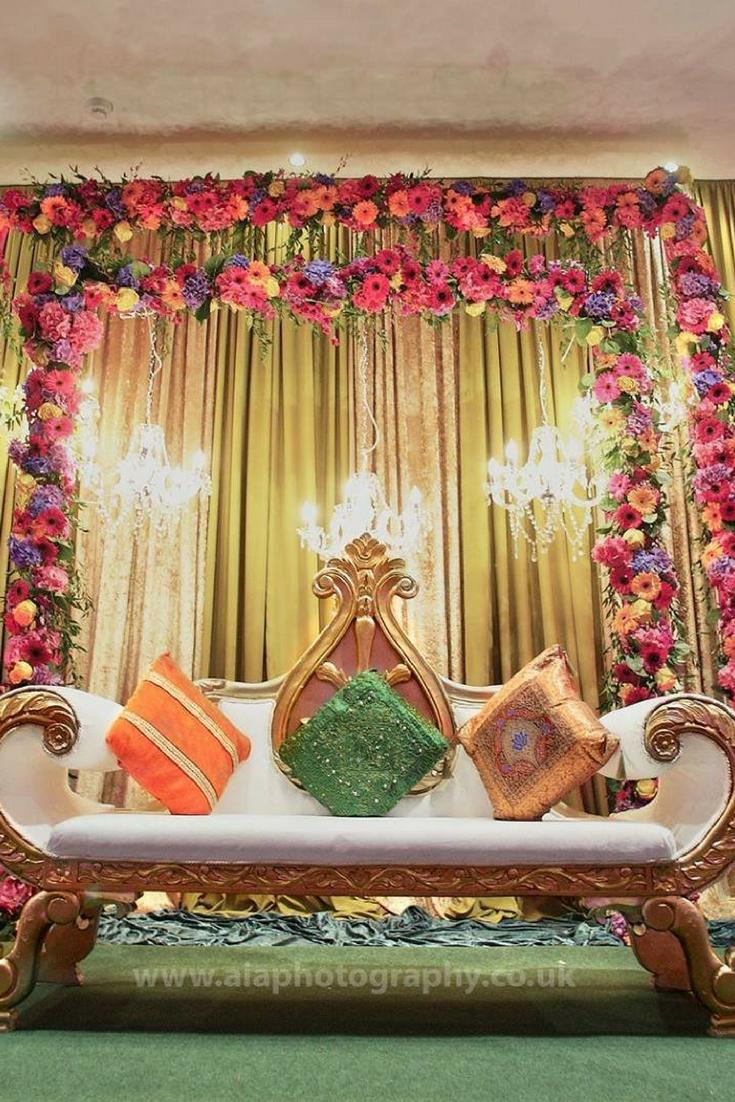 Latest wedding stage decoration  Asian Wedding Stage Decor by SW Events  Wedding Stages