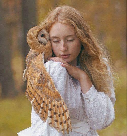 Girl and an Owl