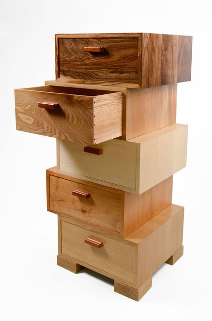Modular Magnetic Stacking Drawers Can Be Arranged In Any Order Or Pattern And They Stay Solid And Stable 8 Furniture Fine Furniture Design Creative Furniture