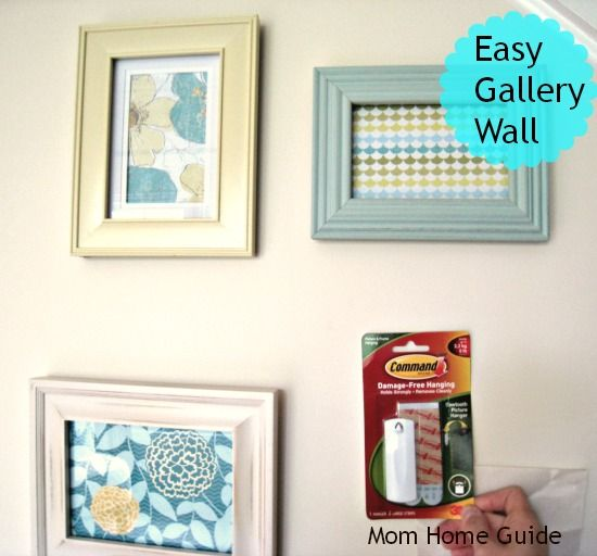 Create a beautiful gallery wall by framing pretty scrapbook paper