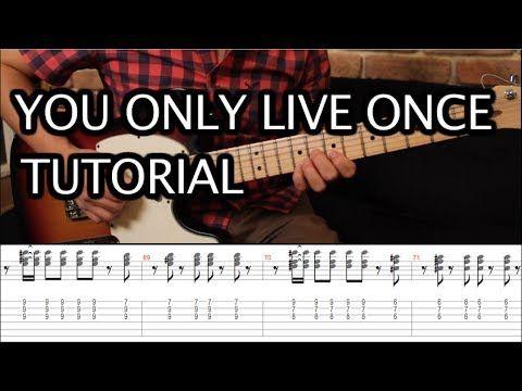 Como Tocar You Only Live Once De The Strokes Tutorial Guitarra