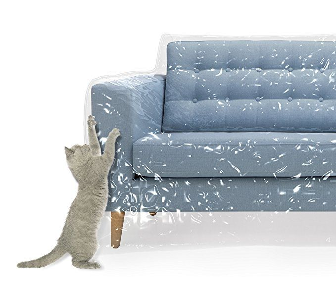 Plastic Couch Cover For Pets Cat Scratching Protector Clawing Deter Heavy Duty Water Resistant Thick Clear Vinyl Sofa Slipover Moving And Long