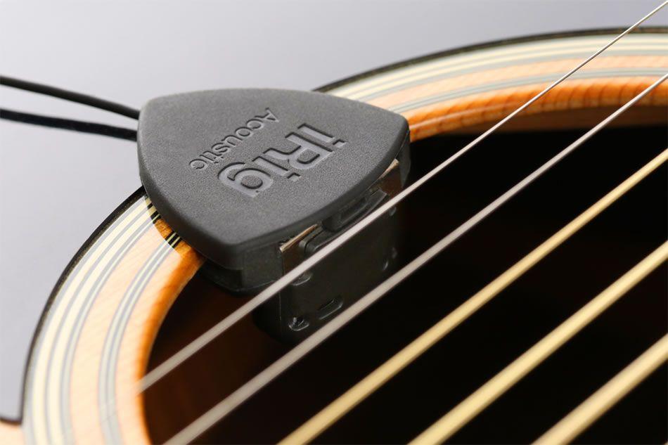 Irig Acoustic Guitar Mobile Microphone Crams A Complete Studio Into A Guitar Pick Acoustic Guitar Guitar Guitar Picks