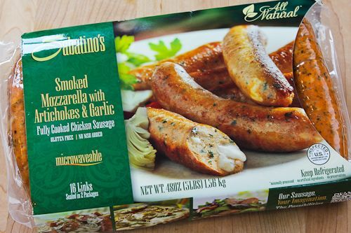 i dont eat meat but these look good sabatinos smoked mozzarella chicken sausages with artochokes and garli chicken sausage recipes sausage mozzarella chicken chicken sausage recipes