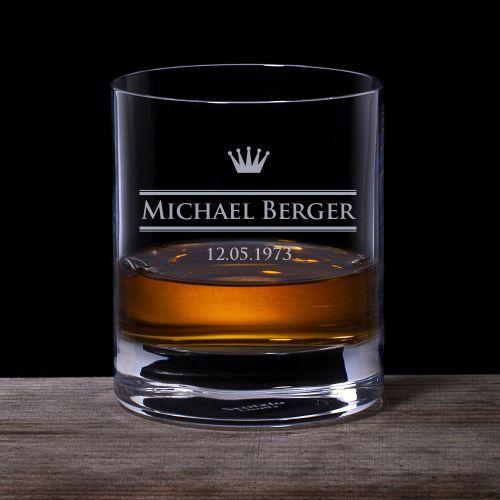 personalisiertes whiskyglas royal geschenke f r v ter. Black Bedroom Furniture Sets. Home Design Ideas
