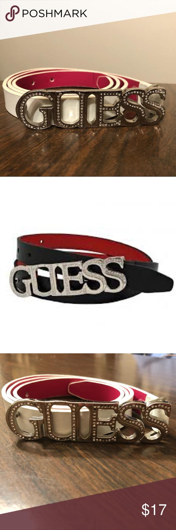 3 24 Guess Rhinestone Leather Belt Leather Belt Leather Belt