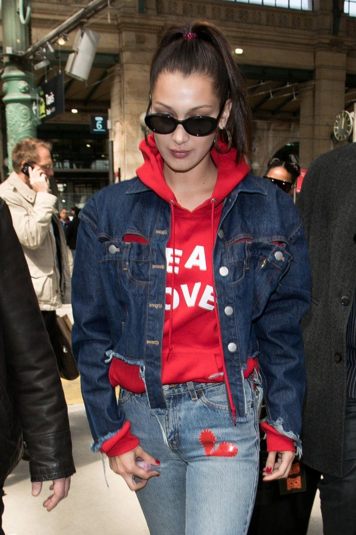 Bella Hadid's Jeans Might Be a Secret Message For The Weeknd