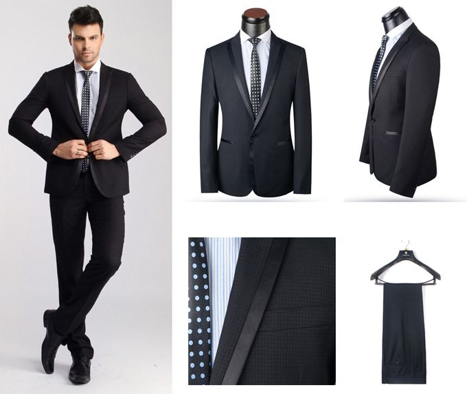 Men High Quality Formal Wear Blazer Wedding Suits for Men Western ...