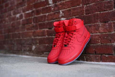 Additional Pictures of The University Red Nike Lunar Force 1 High