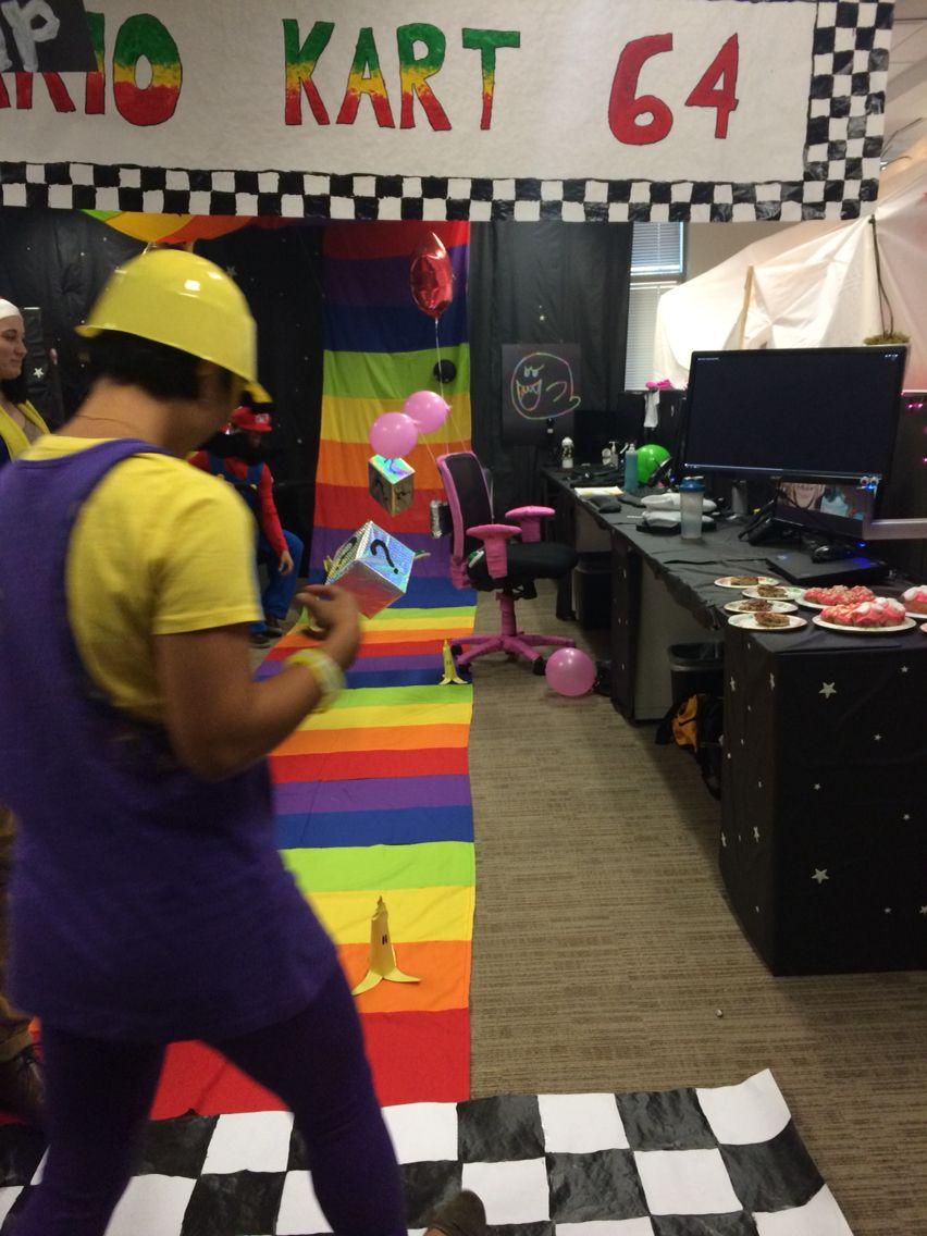 halloween ideas for the office. Mario Kart- Rainbow Road Themed Cubes Halloween Ideas For The Office