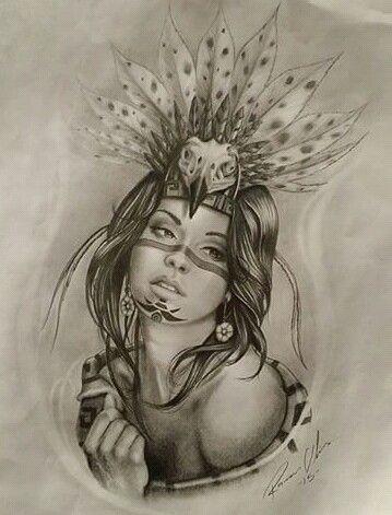 46f250e5e Aztec Princess Warrior Tattoos, Aztec Warrior Tattoo, Badass Tattoos, Princess  Tattoo, Aztec