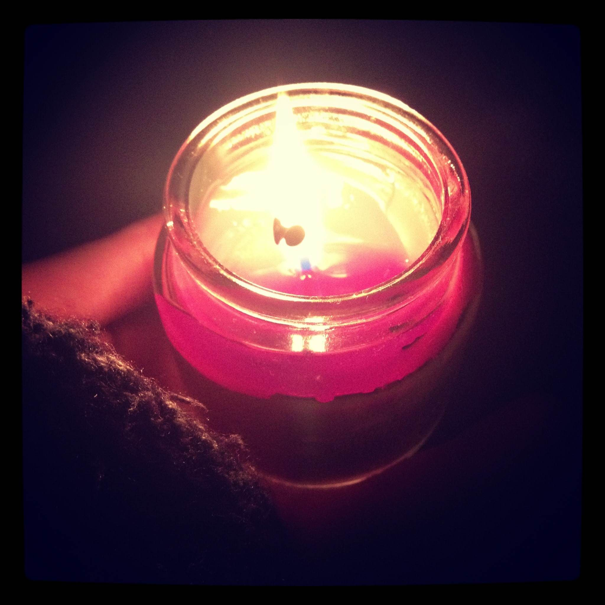 When Hurricane Sandy struck and thought I was cool for taking a picture of my candle
