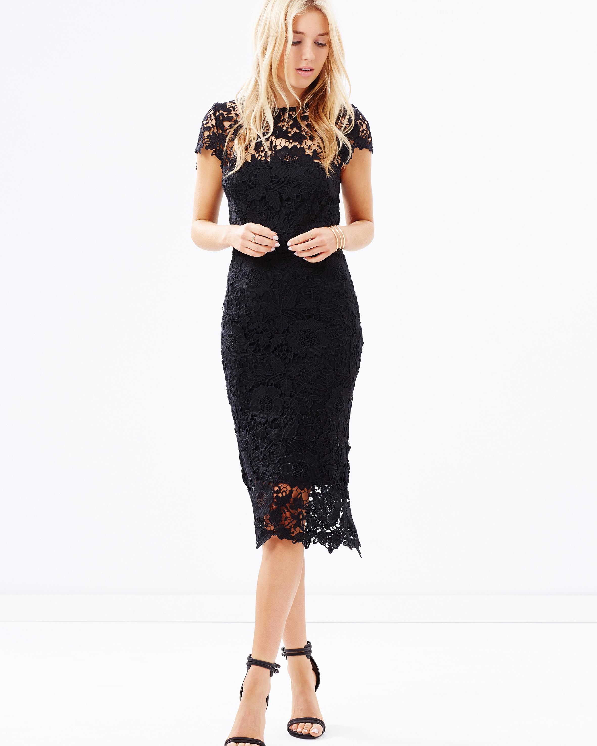 Orchard Midi Lace Dress by Atmos&Here Online | THE ICONIC | Australia
