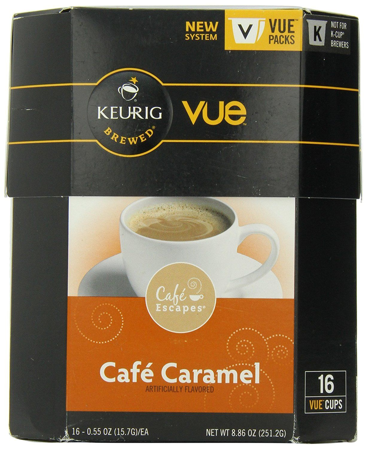 Cafe Escapes Cafe Caramel Vue Pack 16 Count ** A Special