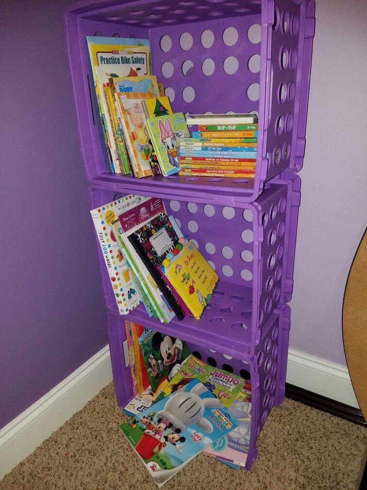 Plastic Milk Crate Bookshelves Milk Crate Furniture Crate Bookshelf Milk Crates Diy
