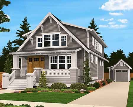 Plan 85058ms Handsome Bungalow House Plan In 2021 Craftsman House Plans Cottage House Plans Family House Plans