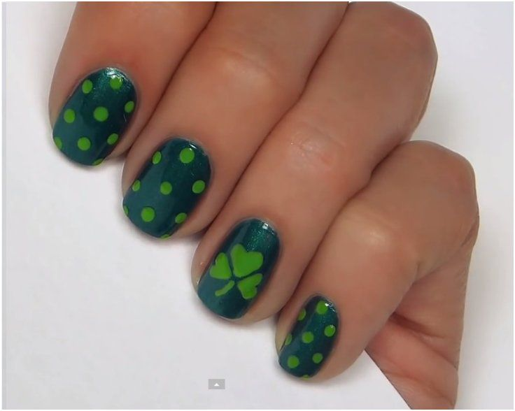 Top 10 Lucky Shamrock Nail Art Tutorial For St. Patrick\'s Day | Art ...