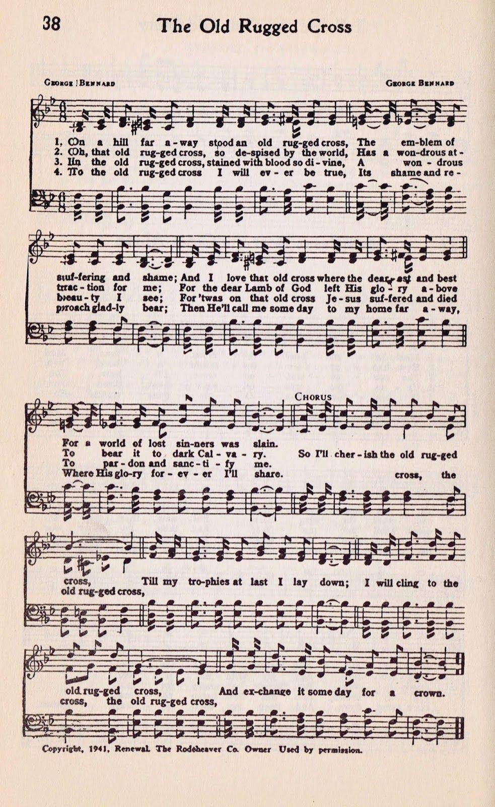 Hymns Lyrics Hymn Sheet Music