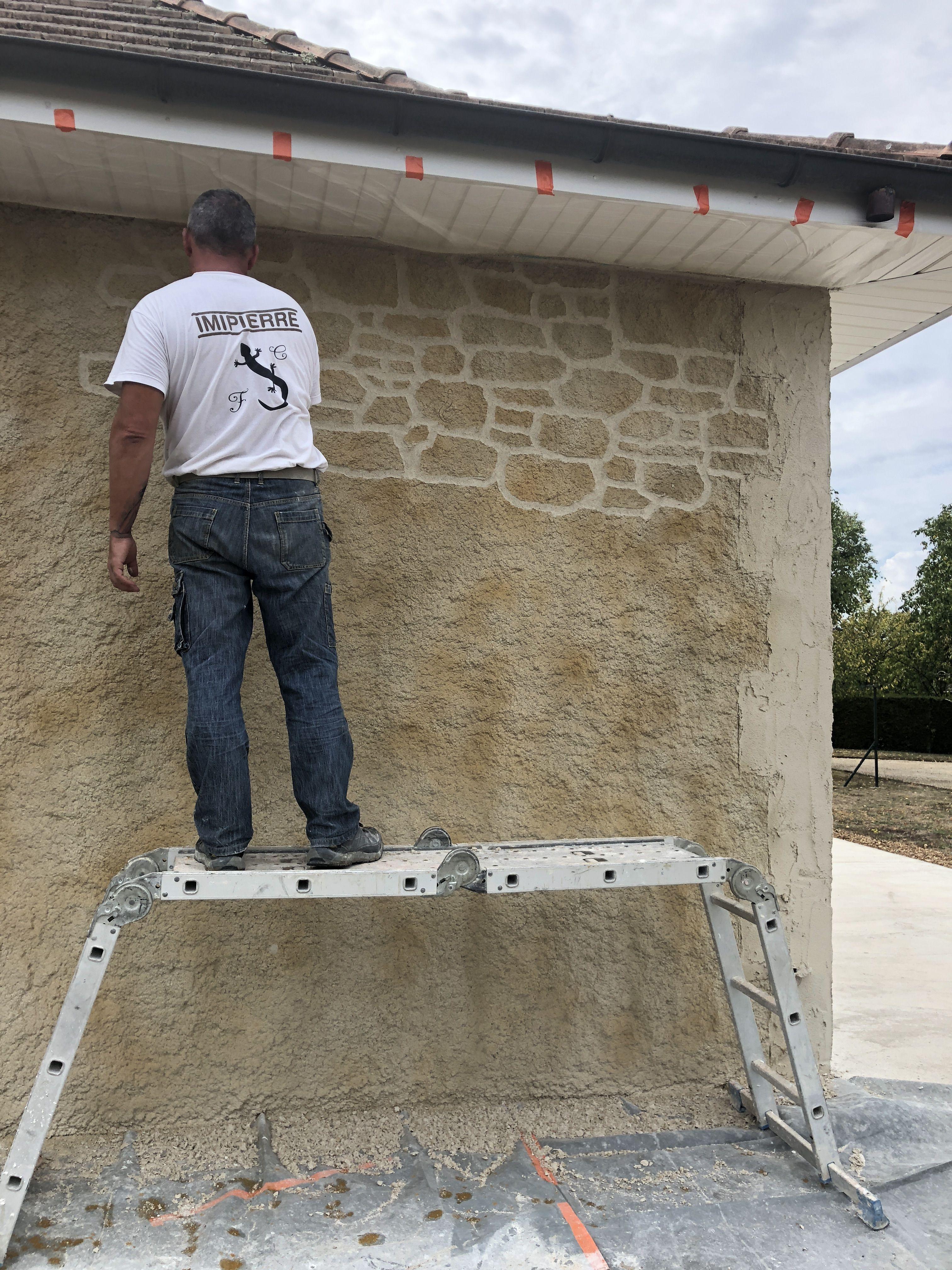 Sculpture De L Enduit Pierre Enduit Mur Exterieur Briquette De Parement Mur Exterieur