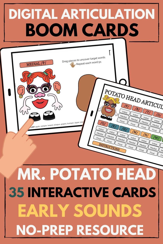 Potato Head Articulation Early Sounds Articulation Potato Heads Speech Therapy
