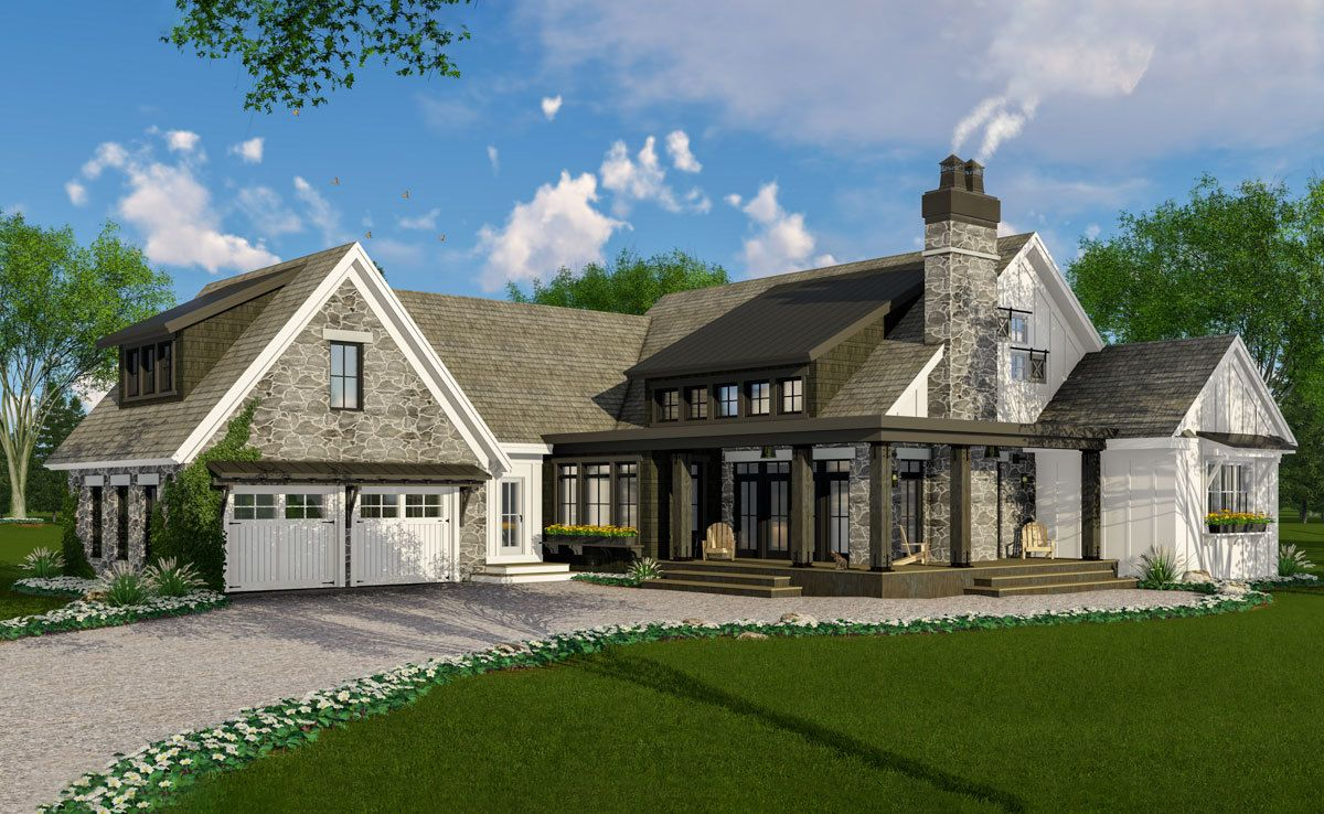 Plan 14664RK: Modern Farmhouse Perfection with Rustic ...