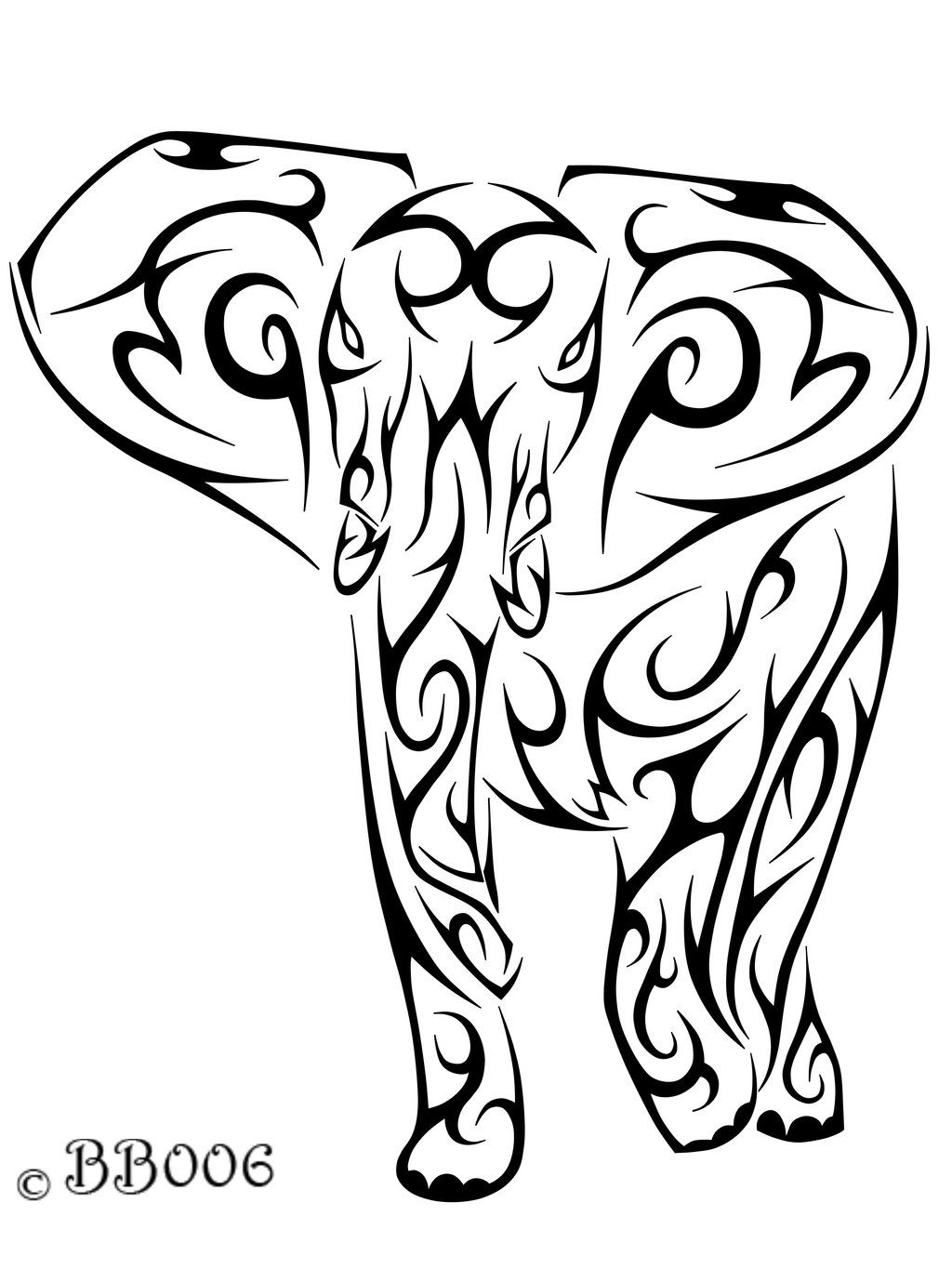 Tribal-Elephant-Head.jpg (1024×1365) | coloring pages for adults ...