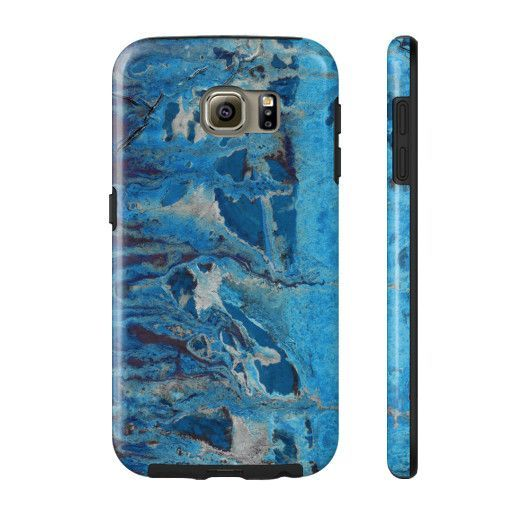 Abstract Paint Print Phone Case - Blue Ice
