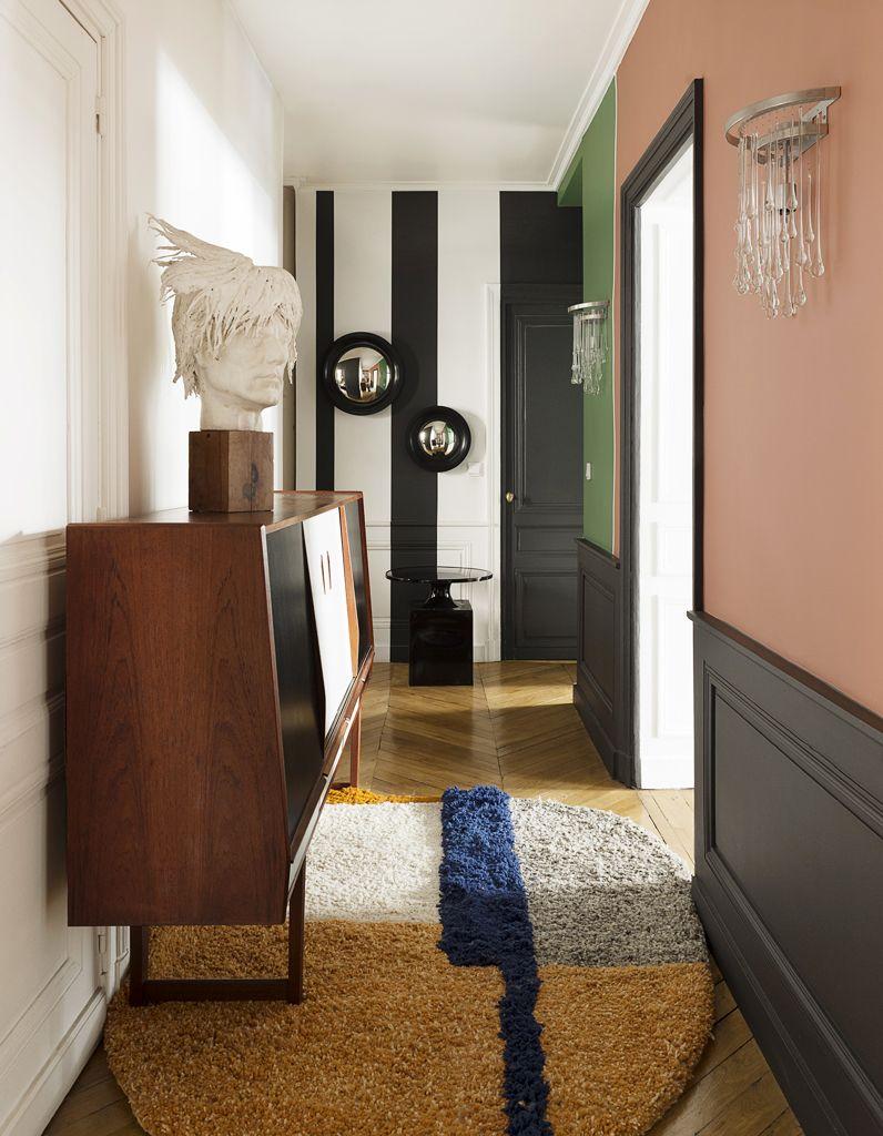 Couloir haut en couleur | ELLE DECORATION France inspirations ...