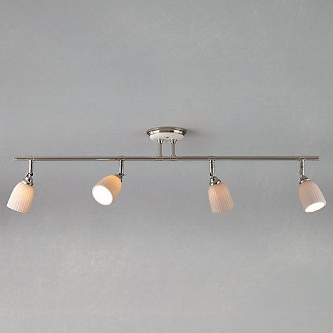 another kitchen lighting possibility john lewis valencia 4 spotlight ceiling bar online at john lewis - Spotlight Kitchen Lights