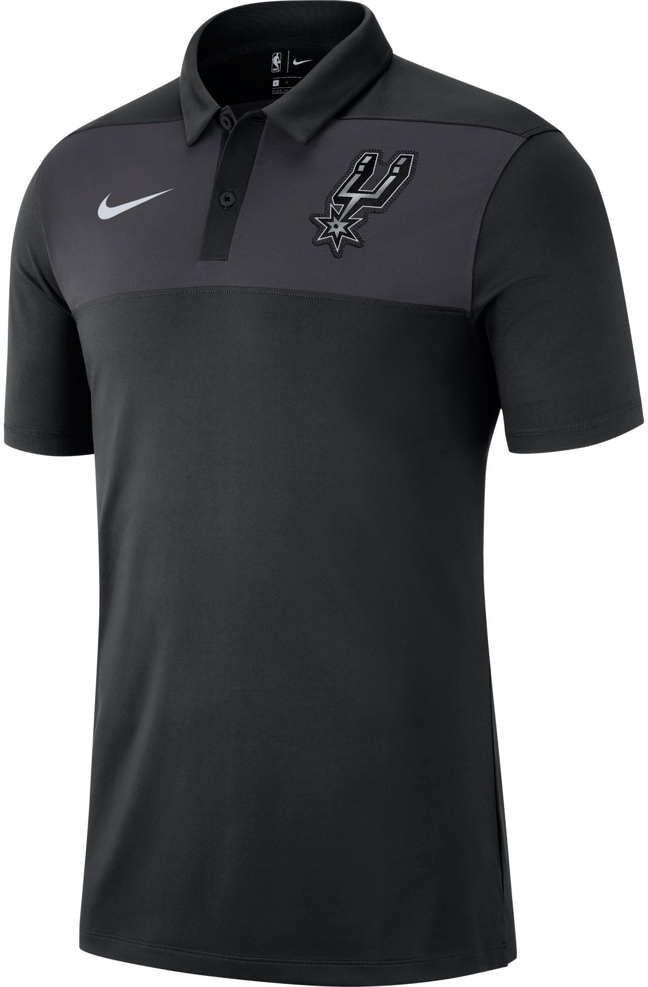 Nike Men s San Antonio Spurs Dri-FIT Statement Polo  e6b8d1182