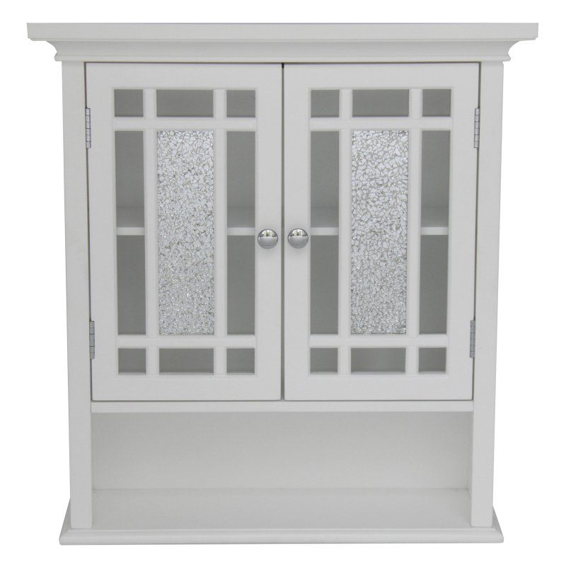 Elegant Home Windsor White Bathroom Wall Cabinet With 2 Doors And Alluring Bathroom Wall Cabinet Decorating Inspiration